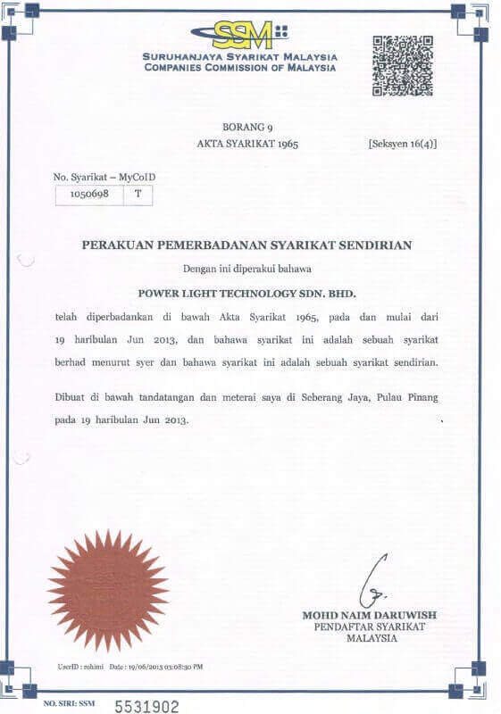 Electrical Contractor Penang Power Light Technology Sdn Bhd